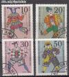 Bund Mi. Nr. 650 - 653 o Marionetten
