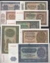 Serie Deutsche Notenbank 50 Pfennig bis 100 Mark kpl. Kassenfrisch
