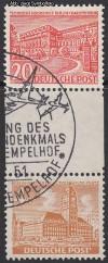 Zusammendruck Berliner Bauten 1949 Zd - Mi. SZ 3 B o