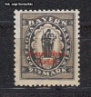 DR Mi. Nr. 133 II ** Aufdruckmarke 2 1/2 Mark Steindruck