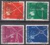Schweiz Mi. Nr. 566 - 569 Nachrichtenwesen 1952 o