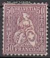 Schweiz Mi. Nr. 43 Sitzende Helvetia Faserpapier *