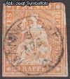 Schweiz Mi. Nr. 16 II Sitzende Helvetia 20 Rp o