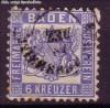 AD Staaten Baden Mi. Nr. 19 a o Wappen 6 Kreuzer