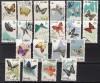 China VR Mi. Nr. 689 - 698 und 726 - 735 o Schmetterlingsserien