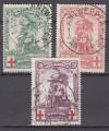 Belgien Mi. Nr. 104 - 106 o  Rotes Kreuz 1914