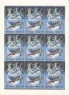 Russische F�rderation Zusammendruckbogen Mi. 445 - 448 o  Weltraum