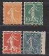 Frankreich Mi. Nr. 140 - 143 S�erinsatz