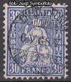 Schweiz Mi. Nr. 33 b Sitzende Helvetia 30 C preu�ischblau o