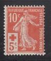 Frankreich Mi. Nr. 126 *  Rotes Kreuz 1914