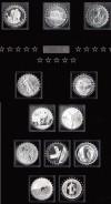 Sammlung ber�hmte Silberm�nzen der Welt in Schmuckschatulle