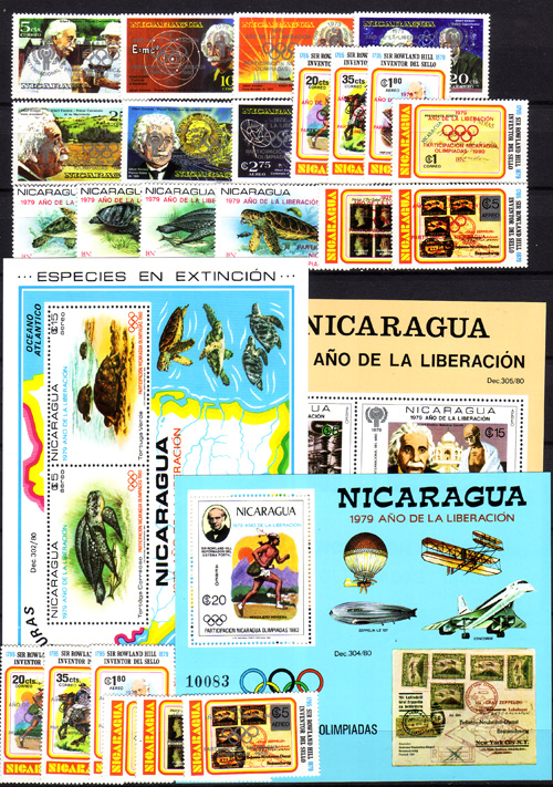 nicaragua ausgaben olympische spiele postfrisch 1980 g nstig kaufen im briefmarken online shop. Black Bedroom Furniture Sets. Home Design Ideas