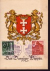 DR Sonderkarte Danziger Wappen ungebraucht ( K 12 )