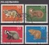 Bund Mi. Nr. 549 - 552 o Seltene Tiere