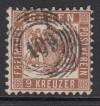 AD Staaten Baden Mi. Nr. 20 c o gepr. 9 Kr Wappen Luxus dunkelbraun