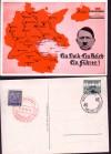 DR Postkarte Postamt Einsiedel Ein Volk - Ein Reich ( K 14 )