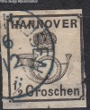 AD Staaten Hannover Mi. Nr. 17 o Posthorn 1/2 Gr