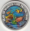 Palau 1992 die 1 Dollar Gedenkmünze  &Meerjungfrau + Fische&