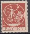 DR Abart Mi. Nr. 135 III ** Bayernmarke 4 Mark ohne Aufdruck