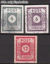 SBZ Mi. Nr. 61 - 63 o Ziffernserie