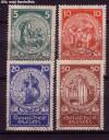 DR Mi. Nr. 351 - 354 o Nothilfe 1924
