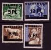 Österreich Mi. Nr. 664 - 667 Marken DR mit Aufdruck **