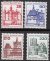 Berlin 1978 Mi. Nr. 587 - 590 ** Burgen u. Schl�sser