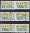 Bund ATM Satz DBP Emblem  Mi.  1.2 hv VS 9 **