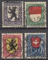 Schweiz Mi. Nr. 209 - 212 Pro Juventute 1924 o