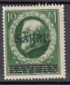 Saargebiet Mi. Nr. 31 ** 10 Mark Bayern mit Aufdruck Saare geprüft