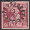 AD Staaten Bayern Mi. Nr. 9 o Wertziffer 3 Kr
