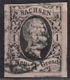 AD Sachsen Mi. Nr. 4 I 1 Ngr o