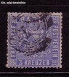 AD Staaten Baden Mi. Nr. 10 b o Wappen 3 Kreuzer