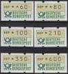 Bund ATM Satz DBP Emblem  Mi.  1.2 hv VS 8 **