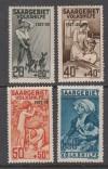 Saargebiet Mi. Nr. 122 - 125 ** Volkshilfe 1927 Pflegedienst II