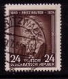 DDR Mi. Nr. 430 o Fritz Reuter
