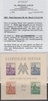 SBZ Abart Block 5 Ya Z ** Messeblock lt. Mi. Spezial 900 €