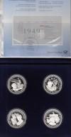Schatulle mit Gedenkmünzen  50 Jahre Grundgesetz 1949-1999