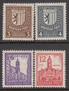 SBZ Mi. Nr. 150 - 155 X Abschiedsserie mit Wasserzeichen X