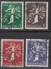 Schweiz Mi. Nr. 344 - 347 Landesausstellung 1939 o
