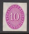 DR Dienstmarke  Mi. Nr. 125 X U **  10 Pf. purpur ungezähnt