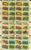 Kleinbögen UNO NY, Wien, Genf Gefährdete Reptilien ** ( S 2277 )