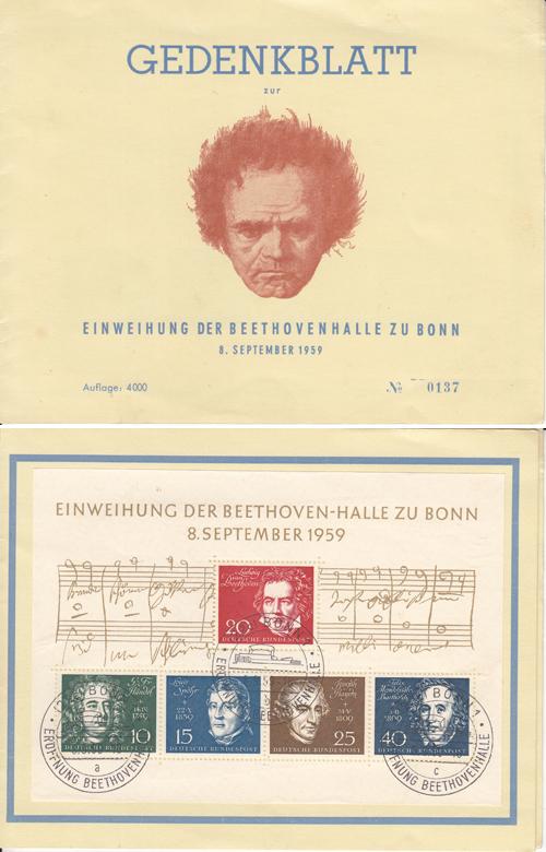 Bund Minr 156-159 Gestempelt Deutschland Briefmarken