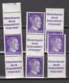 DR Zusammendruckvarianten S 286 - 289 ** Adolf Hitler