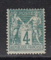 Frankreich Mi. Nr. 58 Typ I * gepr. Allegorien 4 C