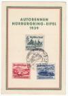 DR Sonderkarte N�rbergring Rennen 1939  ( K 68 )