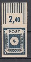 SBZ Mi. Nr. 53 b ** schwarzblau 4 Pf Ziffernserie geprüft mit Attest