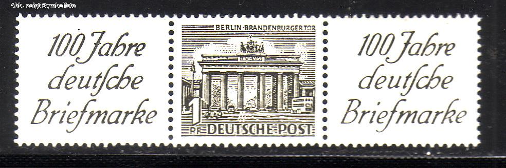 Briefmarken Zusammendruck Berliner Bauten 1949 Zd Mi W 2