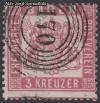 AD Staaten Baden Mi. Nr. 16 o Wappen 3 Kreuzer