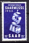 Saarland Mi. Nr. 341 ** Saarmesse 1953